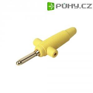 Banánkový konektor zástrčka, rovná Ø pin: 4 mm žlutá SKS Hirschmann Buela 300 K 1 ks