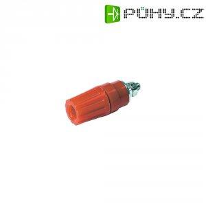 Pólová svorka SKS Hirschmann PKI 110 (931714101), (Ø x d) 14 x 42 mm, červená