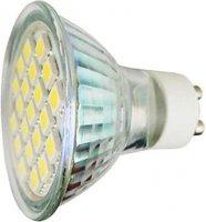 Žárovka LED GU10-21xSMD5050,bílá teplá,230/8W, DOPRODEJ