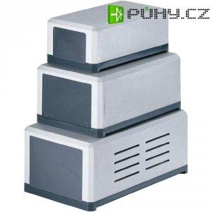 Dvoudílné plastové pouzdro Strapubox, (d x š x v) 138 x 84 x 58 mm, šedá (KG 200)