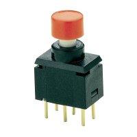 Tlačítko bez aretace Marquardt 9450.0550, 28 V/DC, 0.01 A, černá, červená, 1x zap/(zap)