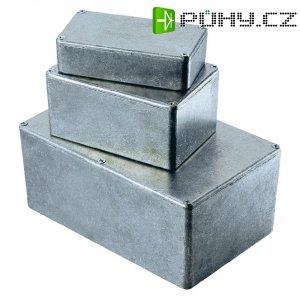 Tlakem lité hliníkové pouzdro Hammond Electronics, (d x š x v) 188 x 120 x 82 mm, hliníková (1590E)