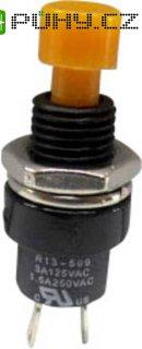 Tlačítko SCI, R13-509A-05YL, 250 V/AC, 1,5 A, vyp./(zap.), žlutá