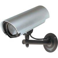 Atrapa bezpečnostní kamery v hliníkovém pouzdře s LED