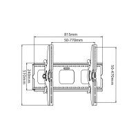 """Nástěnný TV držák Manhattan, 81 - 152,4 cm (32\"""" - 60\""""), sklopný"""