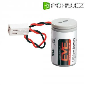 Lithiová baterie Eve, typ 1/2 AA, s konektorem