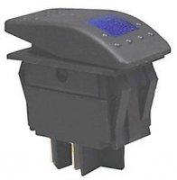 Vypínač kolébkový RK1-06 ON-OFF 2p.12V/30A modrý