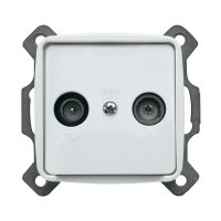 Anténní zásuvka Monte 102014, TV/rádio, plast, bílá