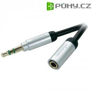 Připojovací kabel Vivanco, jack zástr. 3.5 mm/jack zás. 3.5 mm, černý, 0,3 m