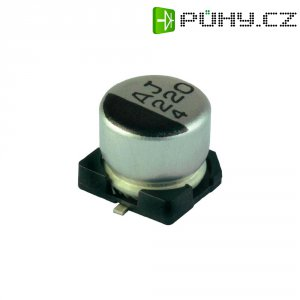 SMD kondenzátor elektrolytický Yageo CB035M0022RSD-0605, 22 µF, 35 V, 20 %, 5,4 x 6,3 mm
