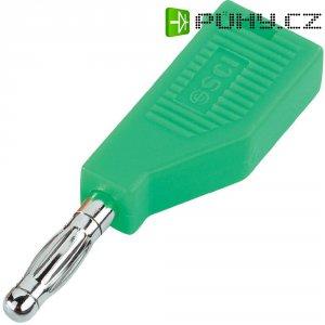 Banánkový konektor SCI R8-B19 G Ø pin: 4 mm, zástrčka, rovná, zelená, 1 ks