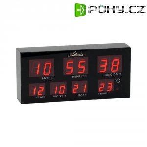 Digitální stolní/nástěnné LED hodiny 1139, 19 x 9 cm, černá