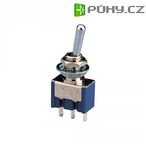 Klopný spínač MS-550F-B, 2x zap/zap, 250 V/AC, 1,5 A