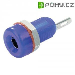 Laboratorní konektor Ø 4 mm SCI, zásuvka vestavná vertikální, modrá