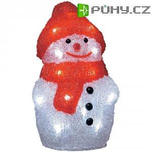 Akrylátový LED sněhulák, 20 LED