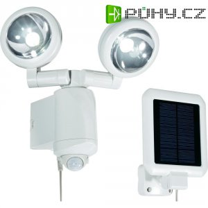 Solární LED svítidlo s detektorem pohybu, bílá, 2 ks