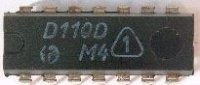 D110D - 3x 3vstup. NAND, DIL14 /MH7410, MH5410/, DIL14