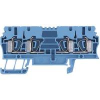 Průchozí svorka řadová Weidmüller ZDU 2.5/4AN BL (1608580000), 5,1 mm, modrá