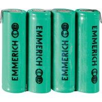 Akupack NiMH Emmerich AA, 1500mAh, 4,8V, pájecí kontakty