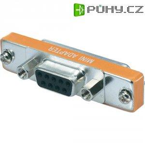 Adaptér D-SUB Digitus, 9-pólový na 25-pólový, zásuvka/zásuvka