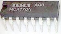 MCA770A - MF+NF zesilovač, DIP16