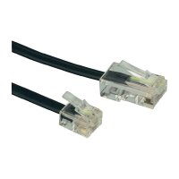 ISDN kabel zástrčka RJ45 8p4c ⇔ zástrčka RJ11 6p4c, 15 m