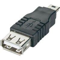 Adaptér USB 2.0, A/Mini-B, černý