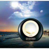 Svítící budík Oregon WL201 Illumi Ambient, černá