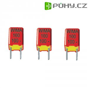 Foliový kondenzátor FKP Wima, 100 pF, 630 V, 2.5 %, 7,2 x 4,5 x 6 mm