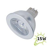 Žárovka LED MR16/12VAC (1x) - 1W bílá