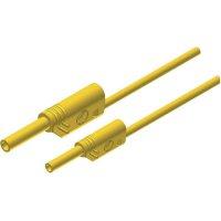 Měřicí kabel banánek 4 mm ⇔ banánek 2 mm SKS Hirschmann MAL S WS 2-4 100/1, 1 m, žlutá