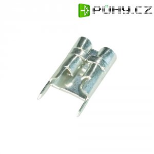 Faston zásuvka Vogt Verbindungstechnik 3867F.68 pro připájení do DPS, 6.3 mm x 0.8 mm, 180 °, bez izolace, kov, 1 ks