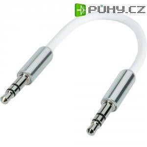 Připojovací kabel SpeaKa, jack zástr. 3.5 mm/jack zástr. 3.5 mm, bílý, 0,1 m
