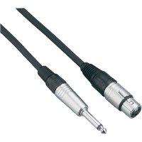 XLR kabel, XLR(F)/jack 6,3 mm, 6 m, černá