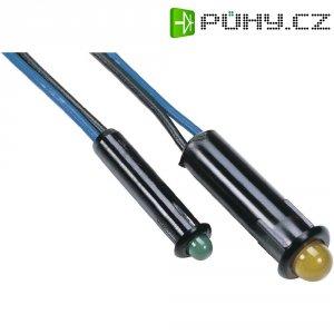 LED s integrovaným předřadným rezistorem, 5 V ŽLUTÁ 3 mm SNAP IN