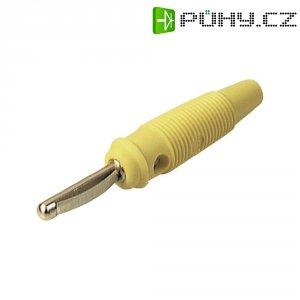 Banánkový konektor zástrčka, rovná Ø pin: 4 mm žlutá SKS Hirschmann VQ 20 1 ks