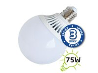 Žárovka LED G95 E27 12W bílá teplá (Al)