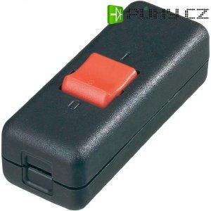 Šňůrový vypínač interBär , 2pólový, 250 V/AC, 10 A, černá/červená