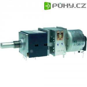 Motorizovaný potenciometr prachotěsný Stereo ALPS RK27112MC 100KBX2 401563, 0.05 W, 100 kOhm, 1 ks