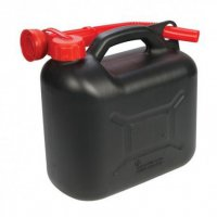 Plastový kanystr na benzín, PHM, 5 L, černý