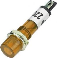 Kontrolka 230V s doutnavkou, oranžová do otvoru 7mm