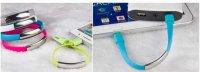 Nabíjecí a datový micro USB kabel - silikonový náramek