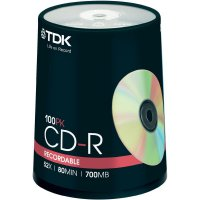 TDK CD-R80 700MB 52X 100 ks cake box