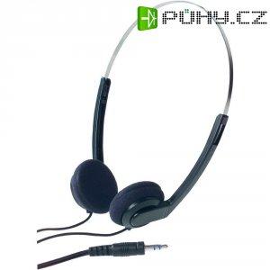 Lehká stereofonní sluchátka - černá