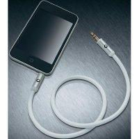 Připojovací kabel Oehlbach, jack zástr. 3.5 mm/jack zástr. 3.5 mm, bílý, 0,5 m