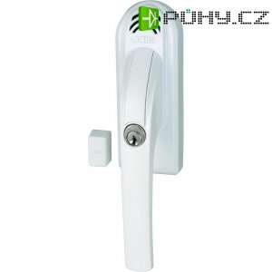 Uzamykatelná okenní klika s alarmem Abus, ABFG68022, pravá, 110 dB A, bílá