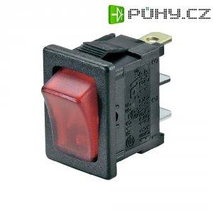 Kolébkový spínač SCI R13-66B-02 LED 12V/DC s aretací 250 V/AC, 6 A, 1x vyp/zap, černá, červená, 1 ks