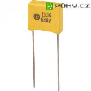 Foliový kondenzátor MKS, 0,015 µF, 630 V, 5 %, 13 x 5 x 11 mm