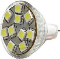 Žárovka LED MR11-10x SMD5050,bílá teplá,12V