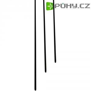 Uhlíkový profil trapézový 500 x 3,0 x 0,7/0,5 mm